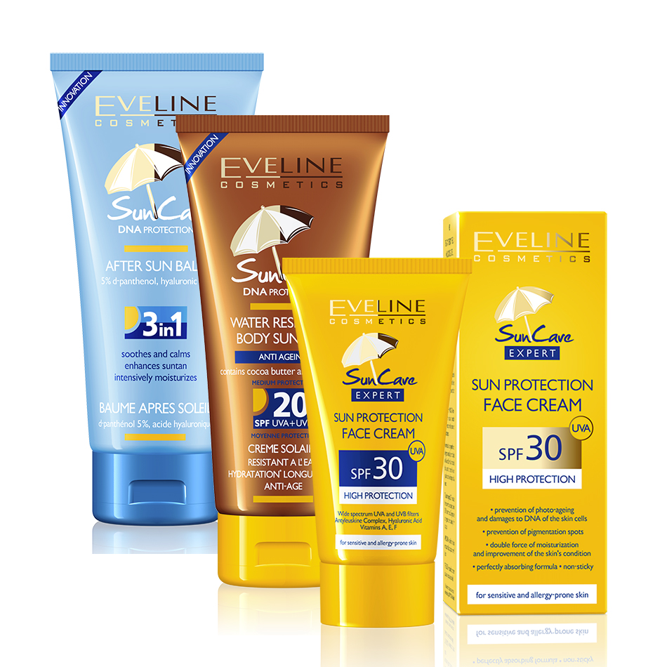 Sun Care Face Cream SPF 30 a Body Sun Milk SPF 20 a After Sun Balm