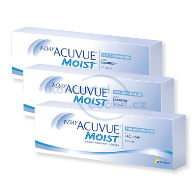 1-Day Acuvue Moist for Astigmatism (90 čoček)