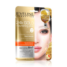 Eveline Cosmetics 24k GOLD FACE MASK - vyživující liftingová textilní maska 20 ml