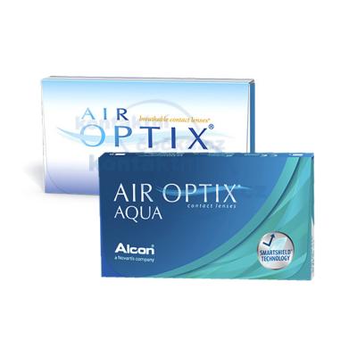 měsíční kontaktní čočky Air Optix Aqua (3 čočky) - původní a nový obal