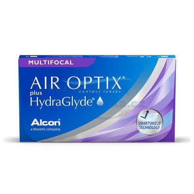 měsíční kontaktní čočky Air Optix Multifocal HydraGlyde (3 čočky)