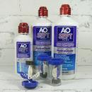 roztok na kontaktní čočky AOSEPT PLUS HydraGlyde 2x 360 ml a 90 ml s otevřteným pouzdrem