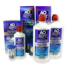 roztok na kontaktní čočky AOSEPT PLUS HydraGlyde 2x 360 ml a 90 ml s pouzdry