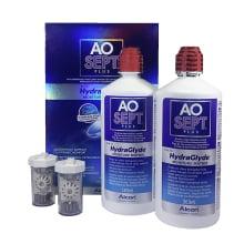 roztok na čočky AOSEPT HydraGlyte 2x 360 ml s pouzdry