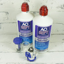 roztok na kontaktní čočky AOSEPT PLUS HydraGlyde 2x 360 ml a otevřené pouzdro
