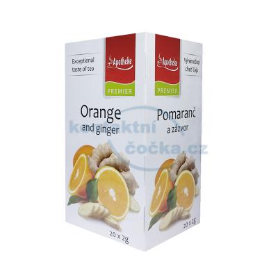 Bylinný čaj Apotheke Pomeranč a zázvor 20x 2g