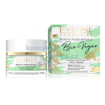 Eveline Bio Vegan - aktivně matující denní a noční krém 50 ml