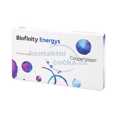 CooperVision měsíční kontaktní čočky Biofinity Energys (3 čočky)