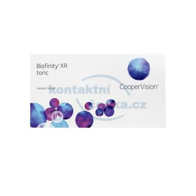 kontaktní čočky měsíční Biofinity XR Toric (3 čočky)