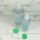 roztok na kontaktní čočky Biotrue 360 ml a 120 ml s otevřeným pouzdrem