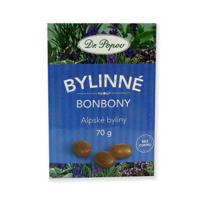 Dr. Popov Bonbony Alpské byliny 70 g