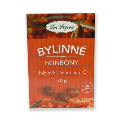 Dr. Popov Bonbony Rakytník s vitamínem C 70 g