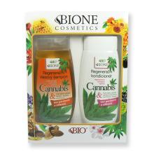 Cannabis Dárková sada Regenerační vlasový šampon 260 ml + Regenerační kondicionér 260 ml