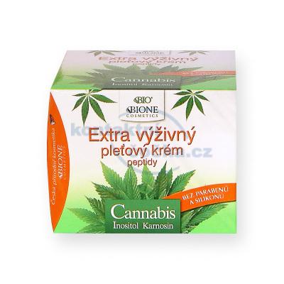 Bione Cosmetics Cannabis Extra výživný pleťový krém s peptidy a ceramidy 51 ml