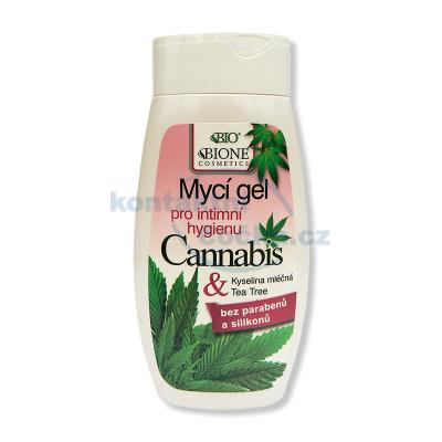 Bione Cosmetics Cannabis Gel pro intimní hygienu 260 ml