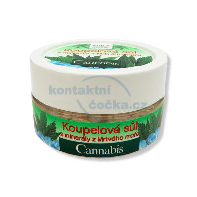 Bione Cannabis koupelová sůl s minerály z Mrtvého moře 200 g