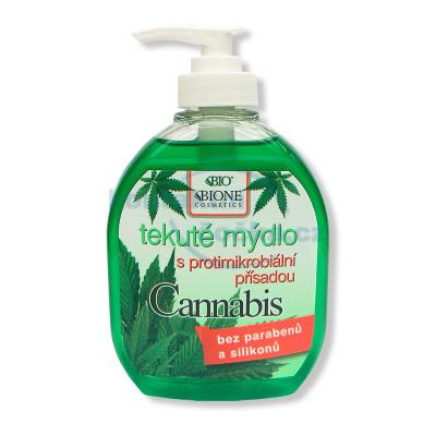 Bione Cosmetics Cannabis tekuté mýdlo s desinfekční přísadou 300 ml