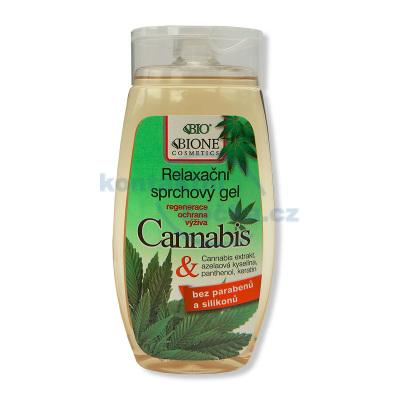 Bione Cosmetics Cannabis Zklidňující sprchový gel 260 ml