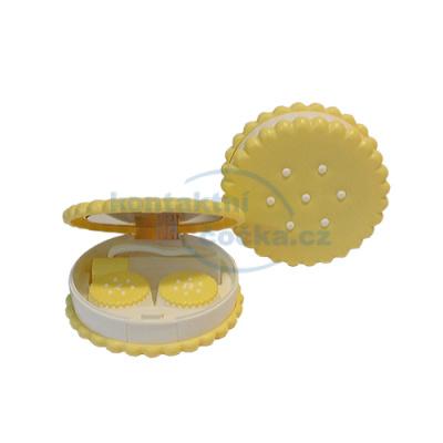 cestovní set na čočky BISCUITS žlutý