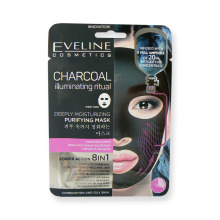 Eveline CHARCONAL pleťová maska hluboce čistící s aktivním uhlím 1 kus