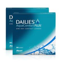 jednodenní kontaktní čočky Dailies AquaComfort Plus (180 čoček)