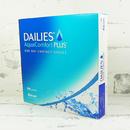 jednodenní kontaktní čočky Dailies AquaComfort Plus (90 čoček) - boční pohled (parametry jsou pouze ilustrační)