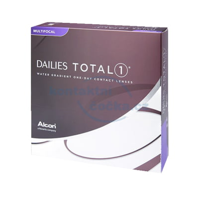 Jednodenní kontaktní čočky Dailies TOTAL1 Multifocal (90 čoček)