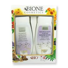 Dárková sada Bione Exclusive Q10 Vlasový luxusní šampon 260 ml + Bezoplachový luxusní kondicionér 260 ml