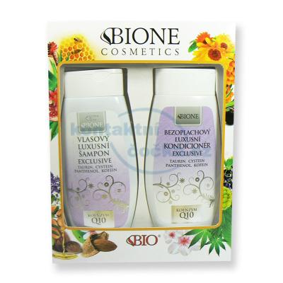 Dárková sada Bione Exclusive Vlasový luxusní šampon 260 ml a Bezoplachový luxusní kondicionér 260 ml