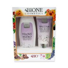 BIONE Exclusive Q10 Dárková sada Tělové mléko 500 ml a balzám na ruce 200 ml