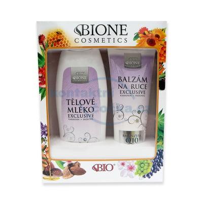 Bione Cosmetics Exclusive Q10 Dárková sada Tělové mléko 500 ml+Balzám na ruce 200 ml