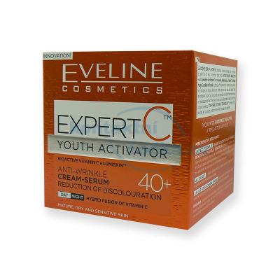 Eveline EXPERT C  40+ denní a noční protivráskový krém-sérum 50 ml