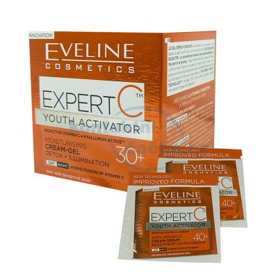 Eveline Expert C denní a noční krém hydratační 30+ 50 ml + 2x tester