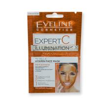 Eveline EXPERT C rozjasňující vitaminová pleťová maska 3v1 2x 5 ml