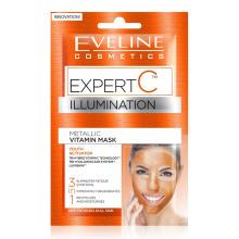 EVELINE Expert C rozjasňující vitamínová pleťová maska 3v1 2x5 ml