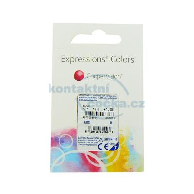 Expressions Colors (1 čočka) barevné měsíční kontaktní čočky (parametry jsou pouze ilustrační)