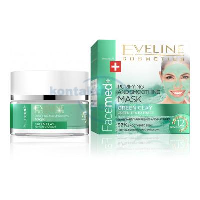 Eveline Facemed+ Čistící pleťová maska se zeleným jílem 50 ml