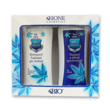 Bione Cosmetics For Men Dárková sada Krémový balzám po holení 200 ml + Vlasový a tělový sprchový gel 200 ml