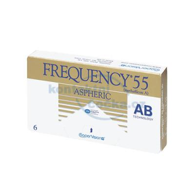 kontaktní čočky měsíční Frequency 55 Aspheric (6 čoček)