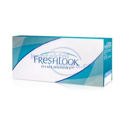 Barevné kontaktní čočky FreshLook Dimensions dioptrické (6 čoček)