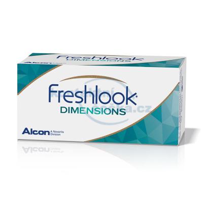 FreshLook Dimensions dioptrické (6 čoček) - barevné měsíční kontaktní čočky - nový obal