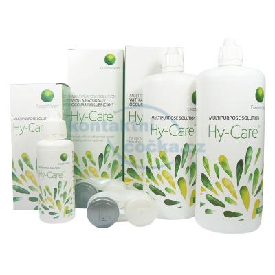 roztok na kontaktní čočky Hy-Care 2x 360 ml + 60 ml s pouzdry