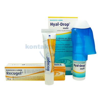 Recugel oční mast 10 g a Hyal-Drop oční kapky 10 ml