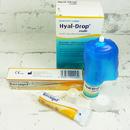 oční mast Recugel 10 g a oční kapky Hyal-Drop 10 ml - detail aplikátorů
