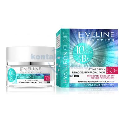 Eveline HYALURON CLINIC denní a noční liftingový krém 50+ 50 ml