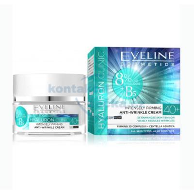 Eveline Cosmetics HYALURON CLINIC 40+ denní a noční zpevňující pleťový krém 50 ml