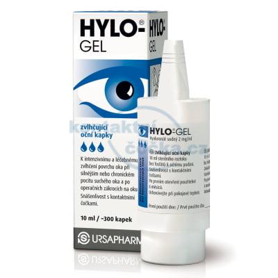 zvlhčovací oční kapky bez konzervantů HYLO-GEL 10ml