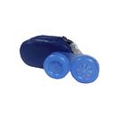 pouzdro na čočky se zrcátkem KOŽENÉ modré