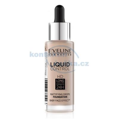 Eveline Liquid Control HD make-up s kapátkem 020 ROSE BEIGE 32 ml