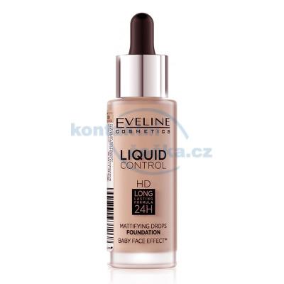 Eveline Liquid Control HD make-up s kapátkem 030 SAND BEIGE 32 ml